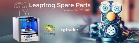 Leapfrog 3D Printable Spare Parts Challenge