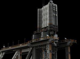 scifi radar tower
