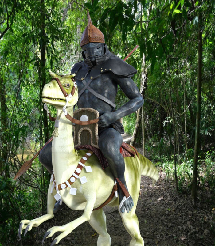 A Mounted Duarf patrol