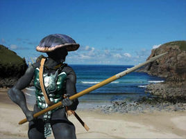 A Quillian warrior on a raid
