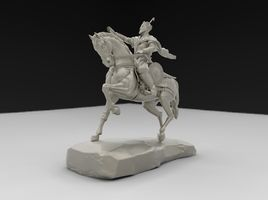 silver figurine. a copy of the monument.