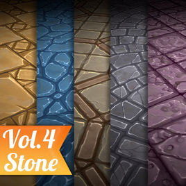 Stone Tile Vol.4 - Hand Painted Texture Pack