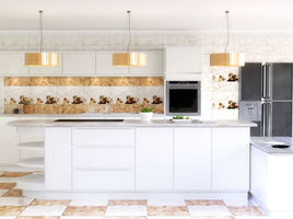 Modern White Spacious Kitchen Interior