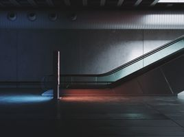 Subway & rigged escalator