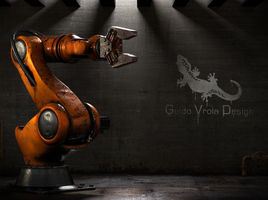 Aged Industrial Robot