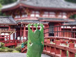 Buddah on Japanese Bridge