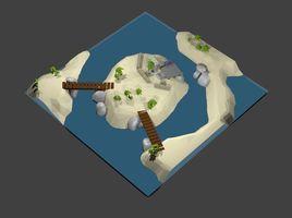 Low Poly Island Scene