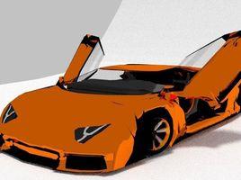 兰博基尼Aventador打开了大门