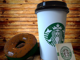 Paper Cup and Donut