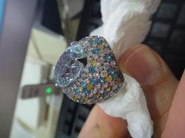 TOPAZ Ring with Diamonds