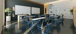 Modern style classroom