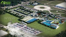 Creative Aerial view Site ideas by Yantram architectural visualization company Rome, Italy