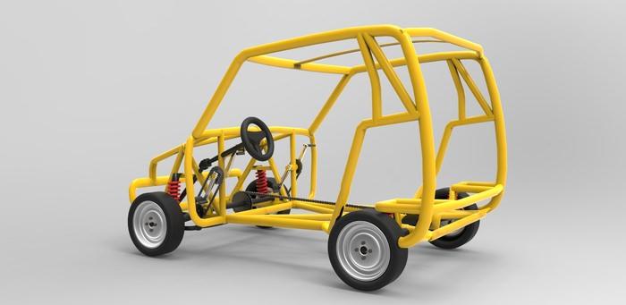 The Pico Human Powered Car Concept Cgtrader