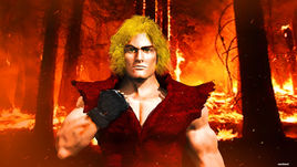 Street fighter ken  character 3d model