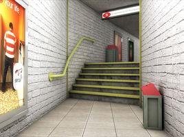Metro subway walkway