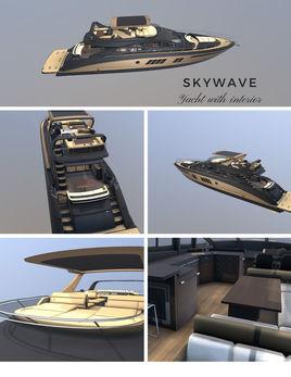 Now on sale! Skywave Luxury Yatch with Interior