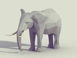 Low Poly Elephant (Low Poly Animal)