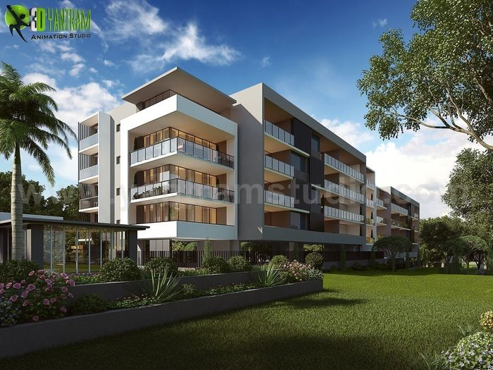 Commercial Building Exterior Design Ideas by Yantram Architectural ...