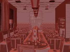 La V Restaurant in Austin, Texas.  rendering