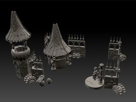 Salvager Ramparts Printable Tabletop Scenery Complete