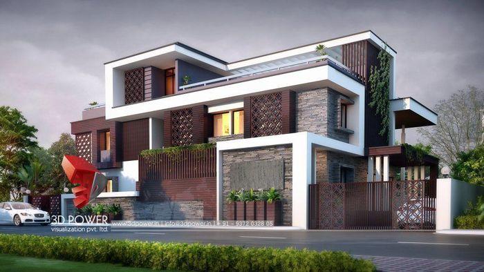 3D Exterior Design Rendering- Modern Bungalow | CGTrader