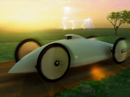 Baker Electric Torpedo Record Car