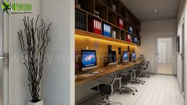 Take Advantage Computer Room Rendering Ideas by Yantram 3d interior modeling Berlin