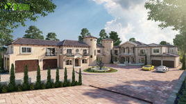 Ultra Semi-Modern Villa Exterior Design Ideas by Yantram architectural rendering service San Diego, USA
