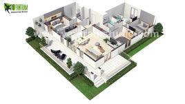 European 3D Home Floor Plan Design ideas by Yantram 3D Floor Design, Paris - France