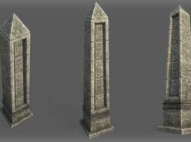 Game Art : Low Poly Obelisk
