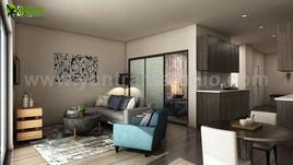 Latest Apartment with 3D Interior Modeling Ideas by Yantram 3D Interior Rendering Services, Miami - USA