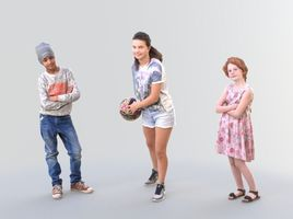 Kids Bundle - Ready-Posed [3DPEOPLE]