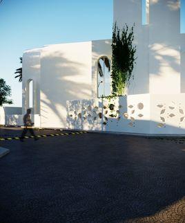 3D model of a mosque