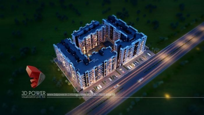 Total 3D Architectural Rendering Of Sai Heritage