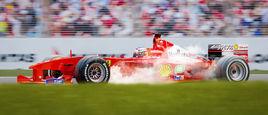 Ferrari F1 2000 - Melbourne Front wheel lock