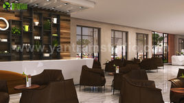 3D Interior Cafe & Reception Design ideas by Yantram Architectural Modeling Firm, Liverpool - UK