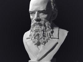 Bust of Fyodor Mikhailovich Dostoevsky.