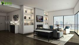 Modern Interior Kitchen & Living Design Firms by Yantram Architectural Animation Companies, Sydney - Australia