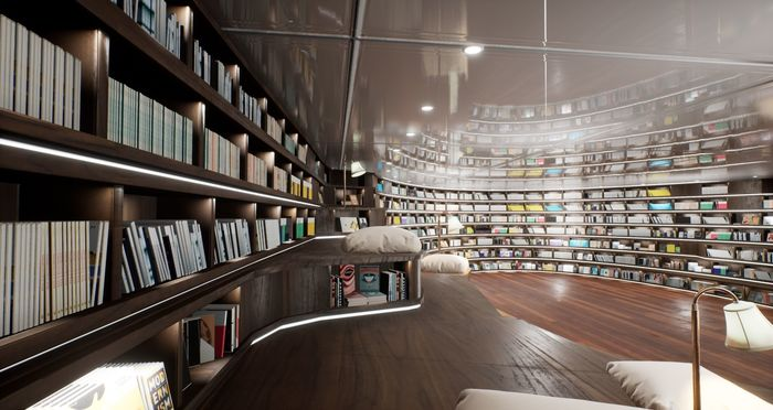 Modern library VR project