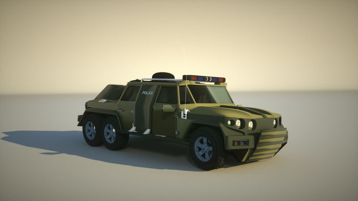 Armored SUV modelling and rendering