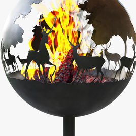Deer fireplace concept