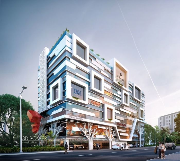 Excellent Architectural 3D Rendering Of Commercial Space