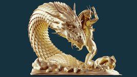 Saint Seiya Dragon dragon shiryu 3d model print