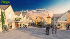 Beautiful Residential Street View Developed By Yantram Architectural Design Studio, Europe