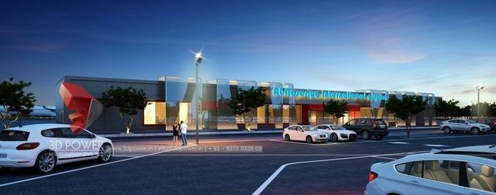3D Architectural Rendering Of International Airport