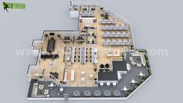 Office Space Interactive 3D Virtual Floor Plan Developed By Yantram Architectural Modeling Firm, Tokyo - Japan