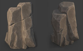 Game Art : Stylized Cliff