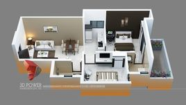 Architectural Rendering Of An Apartment project & 3D Cut Sections