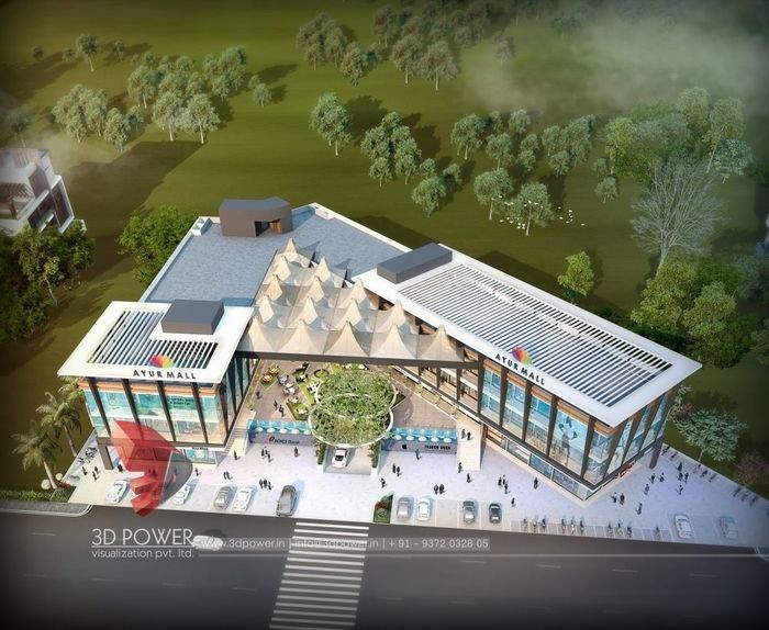 3D Rendering For Ayur Shopping Mall