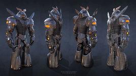Sci-Fi Robot Fighter